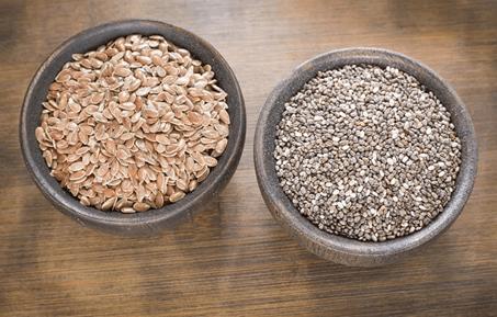 Linhaca e chia, 2 dos 10 alimentos para controlar a Diabetes.
