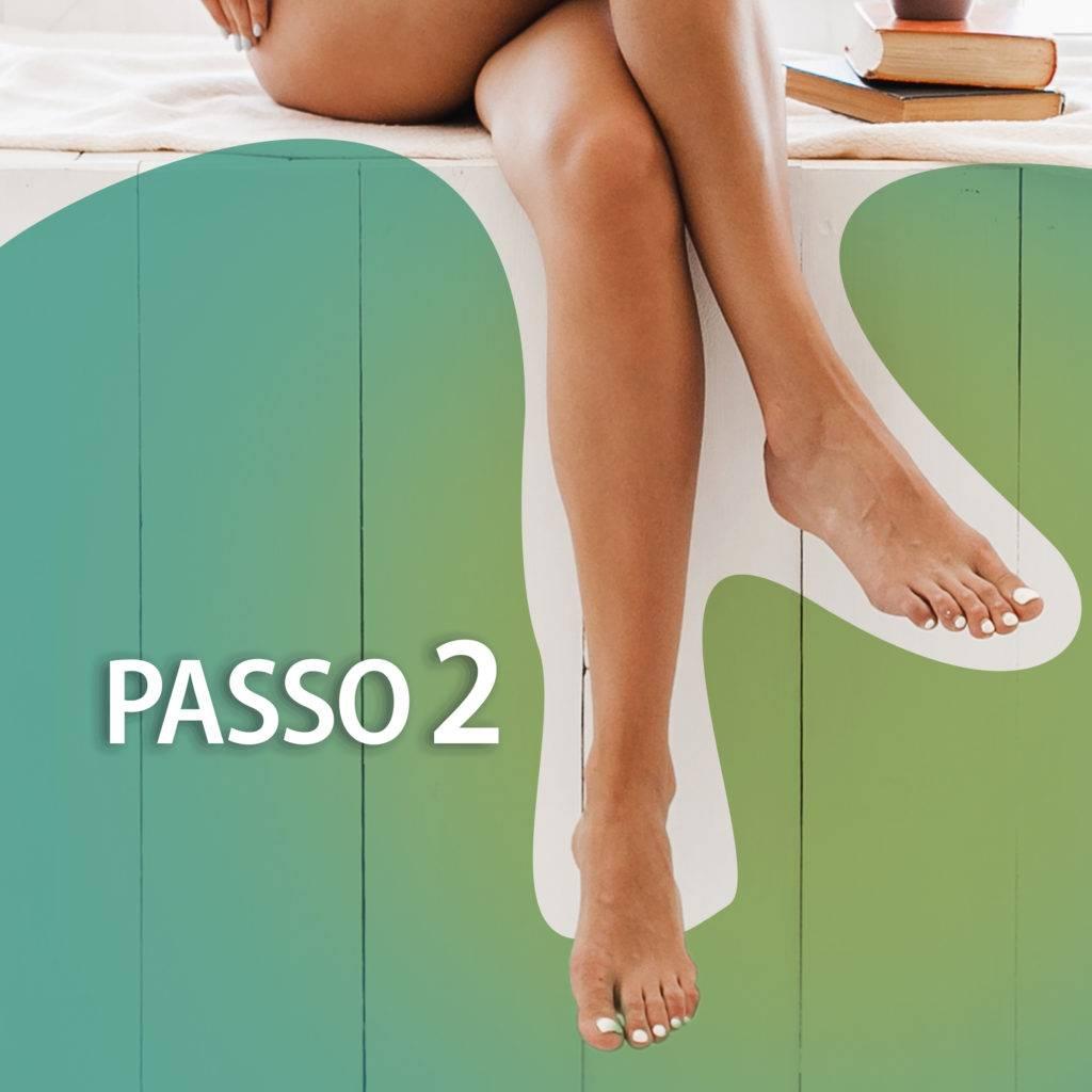 passo 2 para realizar auto massagem nos pés
