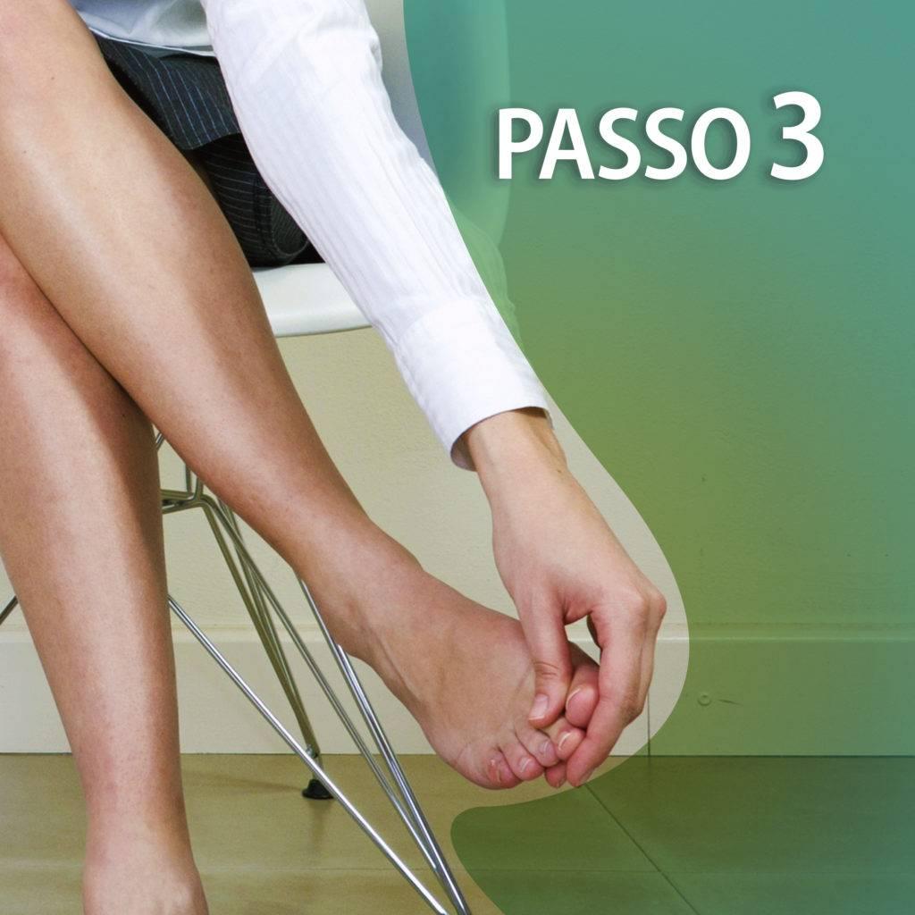 passo 3 para realizar auto massagem nos pés