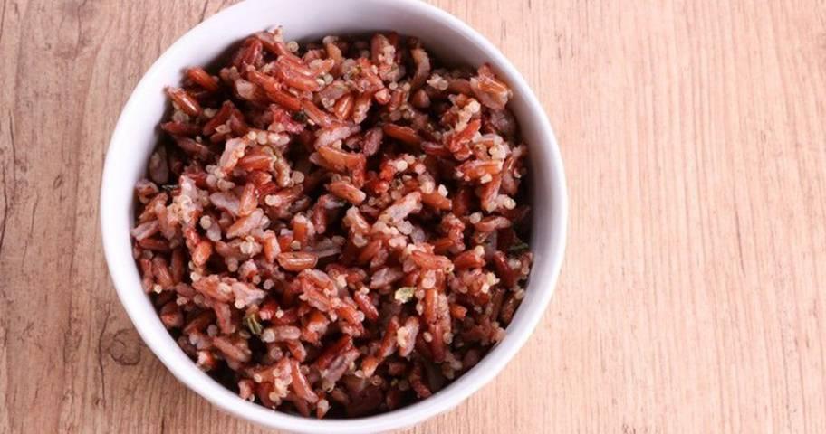 Arroz integral x arroz branco: arroz vermelho