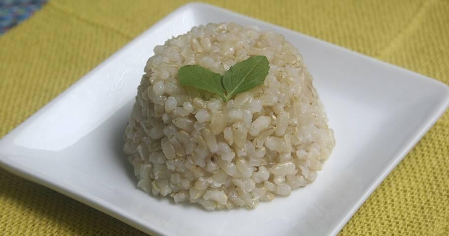 Arroz integral x arroz branco: arroz cateto
