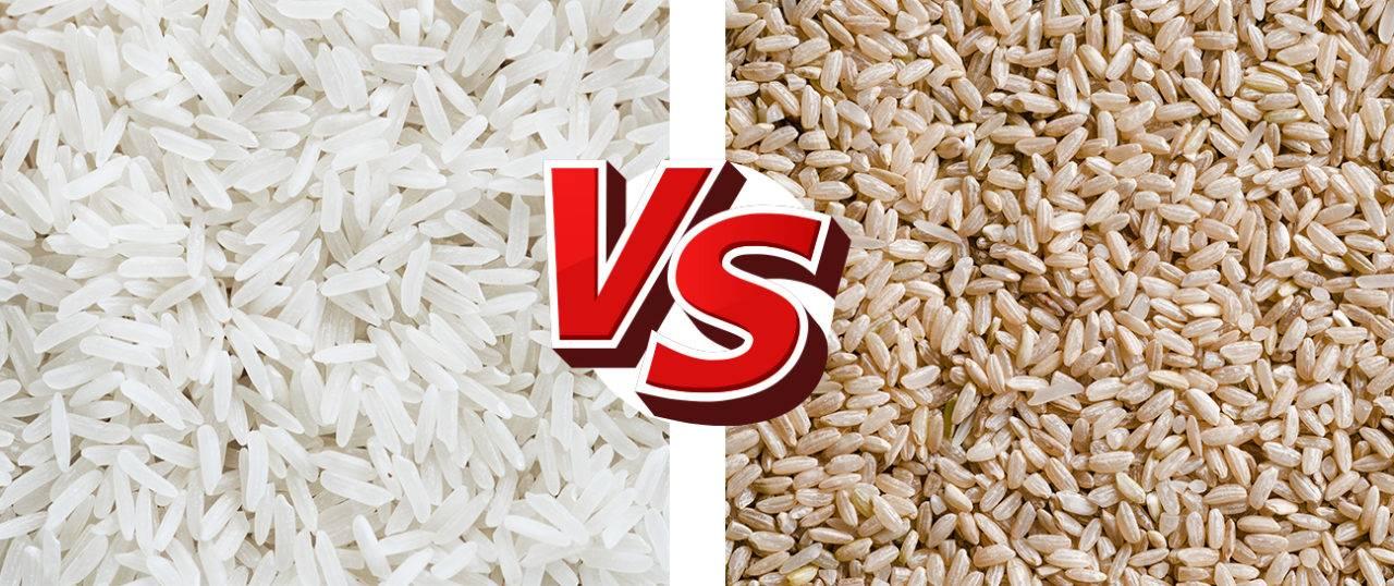 arroz integral x arroz branco
